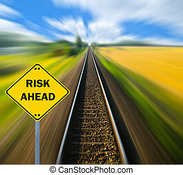 "concept, business, ""risk, -, ahead"", signe"