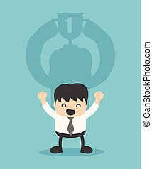 Concept business Shadow of Success.successful businessman