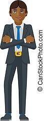 concept, business, tenue, homme, marteau, mascotte