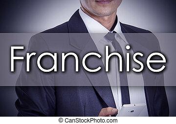 concept, business, texte, -, jeune, franchise, homme affaires