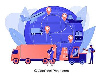 concept, business, vecteur, illustration., logistique