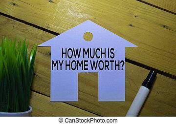 concept., business, worth?, maison, propriété, texte, mon, ...
