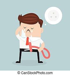 concept., businessman., business, fatigué