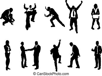 concept busniess people silhouettes - A series of business...