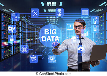 concept, calculer, grand, moderne, il, données, technologie