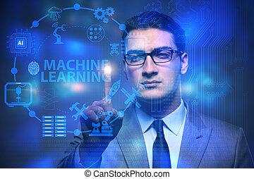 concept, calculer, moderne, il, machine, apprentissage, technologie