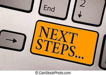concept, calculer, processus, texte, une, clavier ordinateur, créer, suivant, courant, intention, aller, orange, être, après, signification, clã©, numper, fait, reflet, planification, étapes, écriture, document.