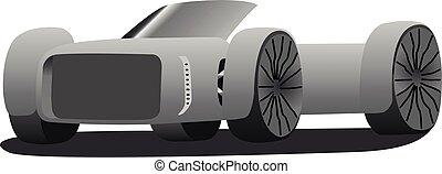 concept car convertible vector illustration