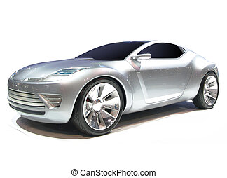 Concept car isolated on white