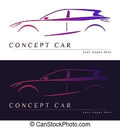 Concept car silhouette.