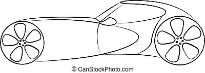 Concept car vector illustration isolated