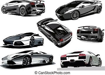 concept-car, wektor, ilustracja