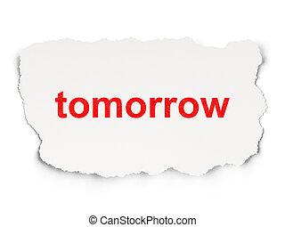 concept:, carta, domani, fondo, tempo