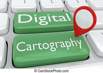 concept, cartographie, numérique