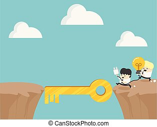 Concept cartoon Collaboration business symbol of ambition, success