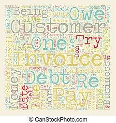 concept, cashflow, obtenir, argent, problèmes, comment, wordcloud, fond, texte, ton