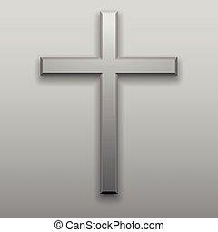 concept, catholicisme, christianisme, moderne, croix, religion, minimalisme, croix, jésus, blanc, conception, logo