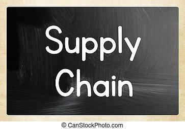 concept, chaîne, fourniture