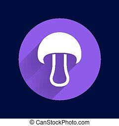 concept, champignon, symbole, signe, icon., boletus