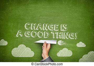 concept, chose, bon, changement