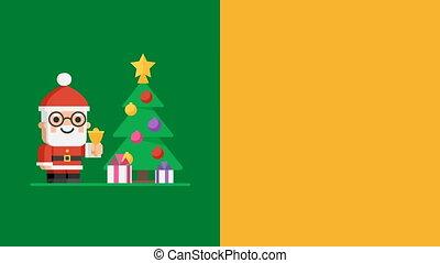 Concept Christmas Tree Character Santa Claus