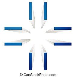 concept, cible, aligner, coupure, précision, récolte, symbole., cross-hair, icon., marque, ou, marks., précision