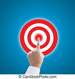 concept, cible, fonctionnement, main, urgent, éditorial, but