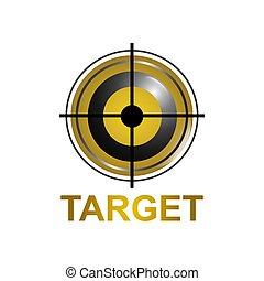 concept, cible, symbole, illustration, conception, gabarit, logo, icône