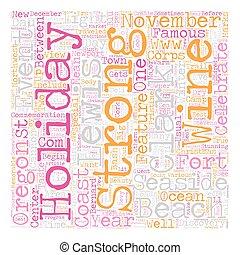concept, clark, lewis, s, côte orégon, wordcloud, fond, texte, fetes