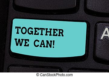 concept, clavier, texte, puissant, une, clavier ordinateur, message, groupe, intention, créer, tout, unité, nous, can., possible, signification, clã©, ensemble, idea., urgent, boîte, écriture, marques
