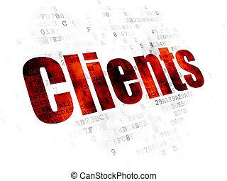 concept:, clients, finance, fond, numérique
