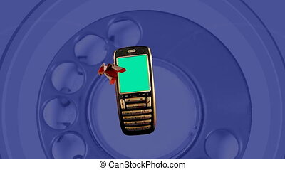 concept clip of retro mobile telephone