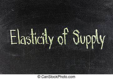 concept, coût, elasticity, illustration, wordcloud, fond, supply.