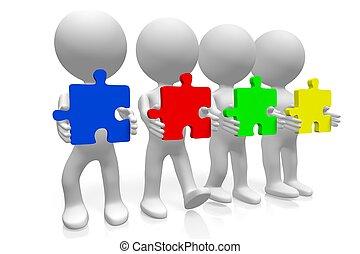 concept, collaboration, 3d