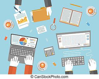 concept, collaboration, business