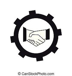 concept, collaboration, icône