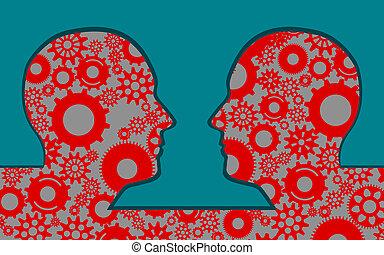 concept, collaboration, travailler ensemble