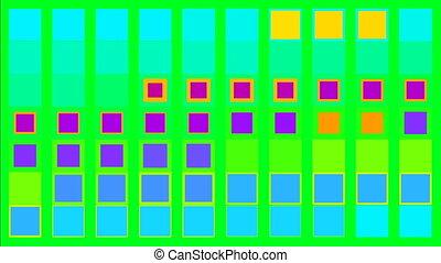 concept, coloré, écran, scintillement, vert, minimalisme,...