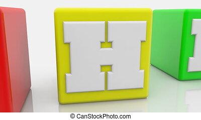 concept, coloré, php, cubes