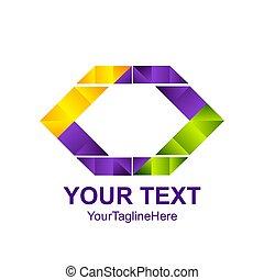 concept, coloré, résumé, créatif, vecteur, conception, gabarit, logo, géométrique, hexagone, element., icône