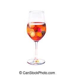 concept, coloré, vibrant, bokeh, verre, vin