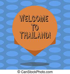 concept, colorez photo, edge., conception, vide, maison, flotter, ton, visite, écriture, texte, cercle, touriste, business, projection, accueil, ombre, mot, attrayant, pays, thailand., ou