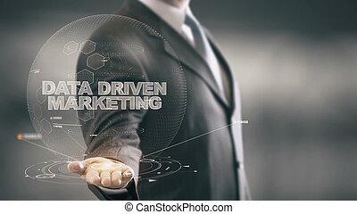 concept, commercialisation, conduit, homme affaires, données...
