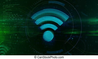 concept, communication, symbole, fond, numérique, wi-fi