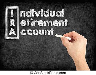 concept, compte, retraite, -, individu, ira