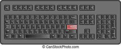 Concept computer keyboard help