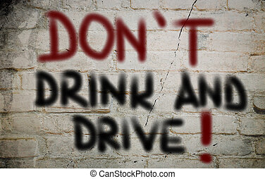 concept, conduire, boisson, pas
