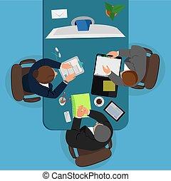 concept, conférence vidéo, business