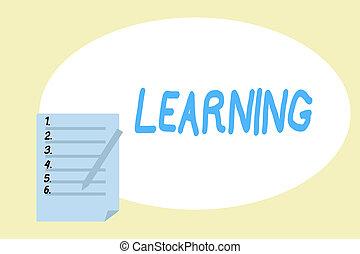 concept, connaissance, techniques, texte, étude, expérience...