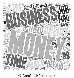 concept, considérer, business, argent, problèmes, wordcloud, fond, texte, maison, viable